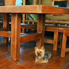 Rustic Table And Chairs Buckboard Rough Cut Table Chair And Bench Set Niangua Furniture