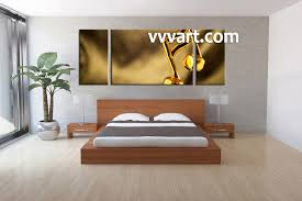 Music Note Wall Decor 3 Piece Yellow Canvas Music Wall Art
