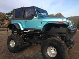 monster jeep jk jeep wrangler yj monster truck 4x4 man classic 4 0ltr 44inch tyres 8ft