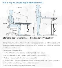 ergonomie bureau ordinateur hauteur réglable debout ordinateur ergonomie bureau poste de travail