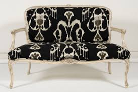 French Settee Loveseat French Settee W Ikat Print Omero Home