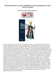 pdf download unity in action multiplatform game development in c wi u2026