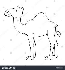 black white cute cartoon camel coloring stock vector 411971815