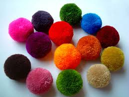 yarn pom poms handmade pom pom yarn balls pink