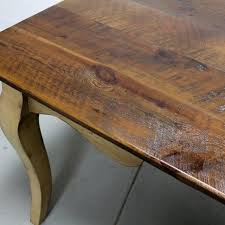 Custom Made French Style Barn Wood Dining Room Table With Cabriole - Barnwood kitchen table