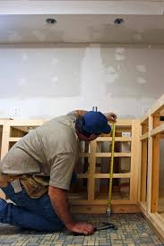 best way to install base cabinets how to install kitchen cabinets hometips