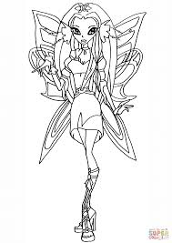 winx club diana fairy coloring page free printable coloring pages