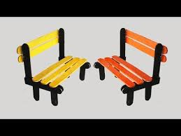 How To Draw A Picnic Table How To Make Pop Stick Bench Tcraft Youtube