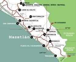 sinaloa mexico map maps of mazatlan and surrounding rural sinaloa community day trip maps