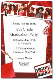 8th grade graduation invitations 8th grade graduation invitation wording template for programs 8th