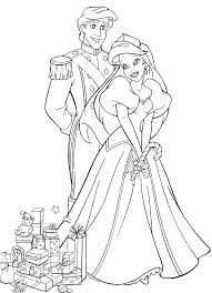 ariel prince eric coloring pages download print free