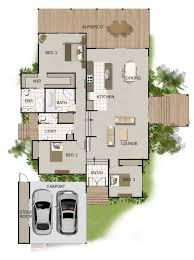 split level house plan split level house plan large deck area 2 bathrooms 2 car