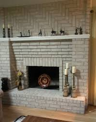 updating brick fireplace with paint home design ideas