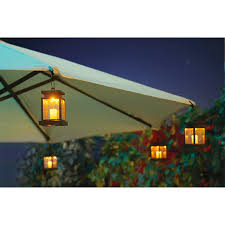 furniture cool white patio umbrellas with hanging lamp for