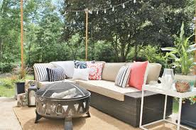How To Build Patio Furniture Sectional - diy outdoor light poles city farmhouse