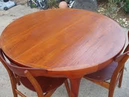 Teak Dining Room Set by Round Teak Dining Table