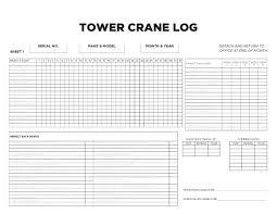 tower crane log book infrastructure health u0026 safety association