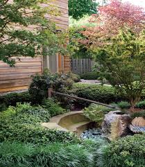 Japanese Rock Garden Plants Eterior Decoration Fascinating Wooden Home With Small Garden On