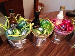 easter gift baskets for adults easter baskets favorite booze glass and chocolate