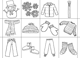winter coloring pages superb winter clothing coloring pages
