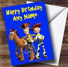 toy story woody jessie personalised birthday card card zoo