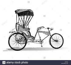 indian rickshaw vector illustration travel transportation pull by