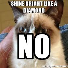 Meme Generator Grumpy Cat - shine bright like a diamond no grumpy cat meme generator