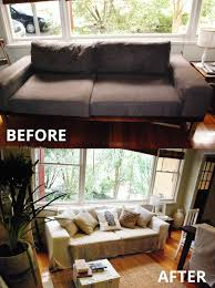 Slipcovers For Sofas Ikea An Alternative To Pottery Barn Sofas Comfort Works Custom Slipcovers