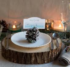 picture of rustic glam diy pinecone place settings for your winter