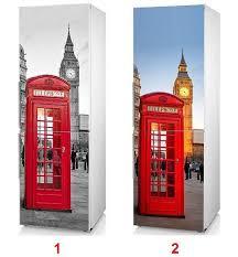 london phone booth bookcase fridge vinyl sticker london phone booth