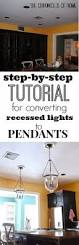 Recessed Lights In Kitchen Replace Over Sink Recessed Light With Pendant How To Photos