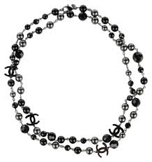 crystal bead necklace jewelry images Chanel black grey silver ruthenium pearls crystal bead 4 station jpg