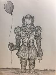 we all float down here u0027 by me pencil on sketch pad by me