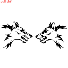 aliexpress com buy 2x large vinyl car stickers tribal wolf