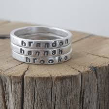 mothers ring with names personalized stackable mothers ring 2mm silver gift for