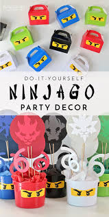 ninjago party supplies diy ninjago party decor henry s 6th birthday party the homes i