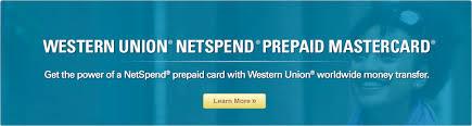 prepaid mastercard wu netspend prepaid card western union