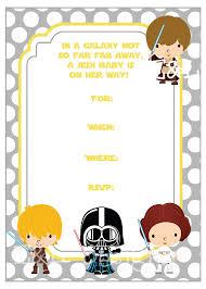 Star Wars Baby Shower Invitations - star wars baby shower 5x7 invitation baby shower yellow