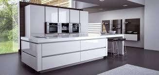 cuisine équipée blanc laqué design du0027interieur plaisant cuisine equipee blanc laquee idées