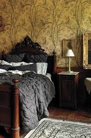 127 best ideas for the bed images on pinterest bedroom ideas antique bedroom furniture vintage wallpaper antique walnut head foot board antique wooden night stand with beautiful luxury modern linens