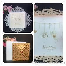 silver wedding invitations cheap laser cut gold silver wedding invitations cards hollow