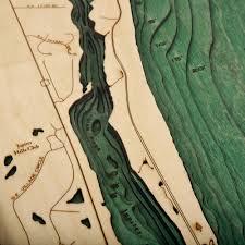 Jupiter Florida Map Jupiter Florida Wood Map 3d Nautical Topographic Chart Framed Art