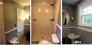 bathroom reveal turning a ugly half bath into a charming full