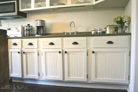 cabinet white beadboard kitchen cabinets throughout for white