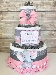 diper cake a peanut is on way cake elephant baby shower