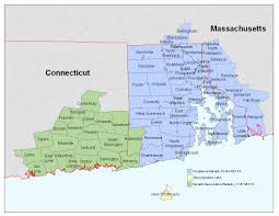 New England Map by Ri Necta Map