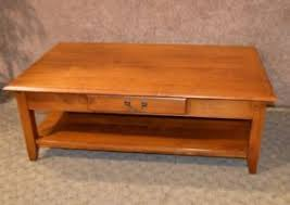 transitional style coffee table ethan allen transitional style coffee table w drawer ebay