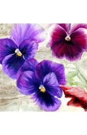 fiori viola quadro piante fiori viola pensiero n 2 sta mdf tela
