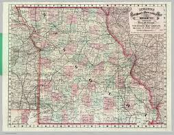 map of missouri rail road and township map of missouri david rumsey historical