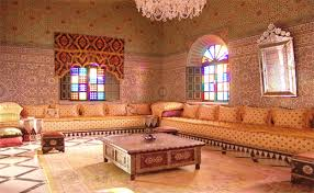 canapé arabe salon arabe marocain style déco salon marocain